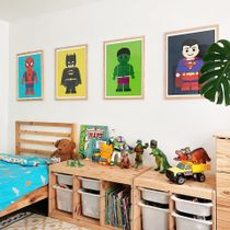 Want to create a bedroom space that your child will feel super proud of?  Personalise it by creating a #GalleryWall and placing their favourite superheroes on display!  Who's your favourite superhero? 🌈 Link in bio to shop!👆  📸 Via: @tribeandus . . . . . #iamfy #art #FyGallerytWall #kids